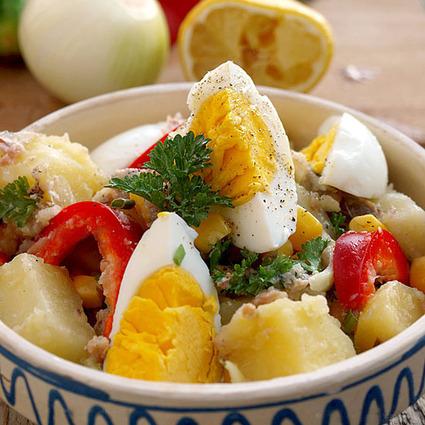Salată de cartofi cu pește