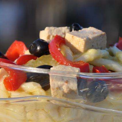Salată de paste cu maioneză